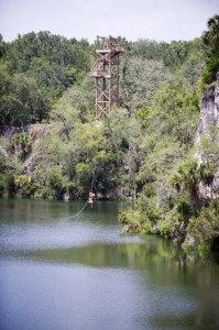 One of the longer zip lines on the full zip tour.