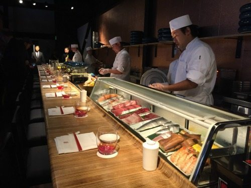 The sushi bar at Morimoto Asia