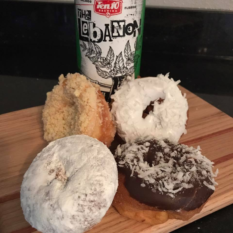 Donuts and beer every Sunday at 11:30am at Ten10 Brewing in Orlando