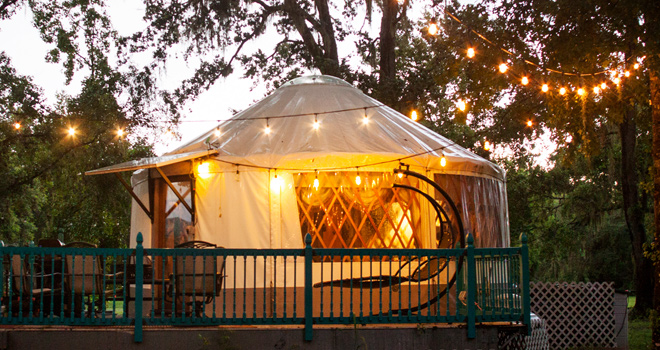 Staycation: Spend the Night in a Romantic Yurt in Geneva