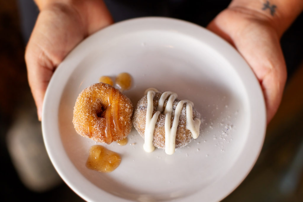 Complimentary mini doughnuts from The Parkview during brunch