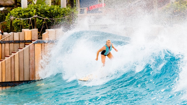 Surfing lessons at Typhoon Lagoon