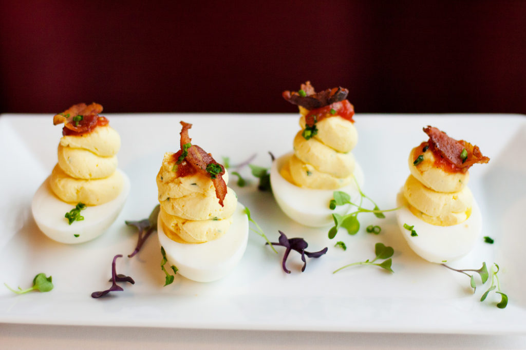 K Restaurant deviled eggs
