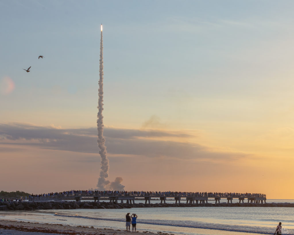 Rocket launch from Jetty Park